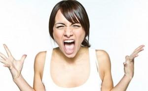kızgın kadın resmi