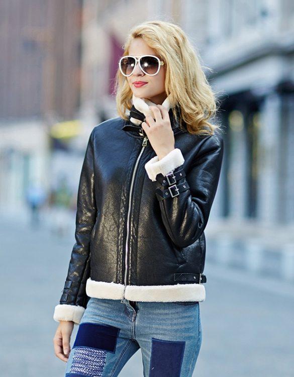 siyah deri ceket modelleri 2017