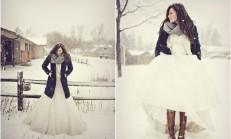 Kış Gelinlik Modelleri