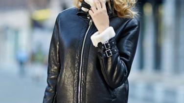 2017 Kış Modasında Siyah Deri Ceket