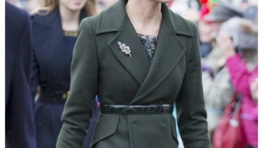 Kate Middleton: Sportmax Yeşil Manto