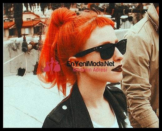 yeni model turuncu saçlar